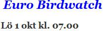 Euro Birdwatch